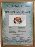 Диплом за 2 место на выставке «JUNWEX-ПЕТЕРБУРГ»